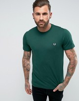 Fred Perry Slim Fit Crew Neck Logo T-shirt Green