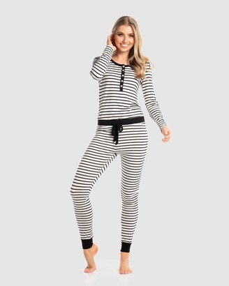 Deshabille Women's White Pyjamas - Betty PJ Set - Size One Size, XS at The Iconic