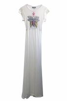 Wildfox Couture White Feather Piper Maxi Dress in Dirty White