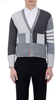 Thom Browne Men's Colorblocked Cashmere Crop Cardigan