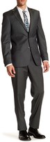 Simon Spurr Green Woven Two Button Notch Lapel Wool Regular Fit Suit