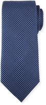 Neiman Marcus Woven Silk Tie, Navy/Blue