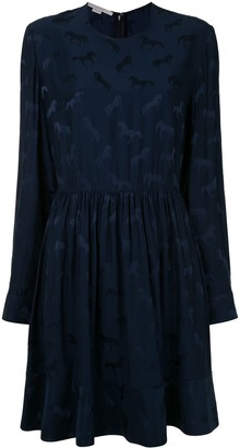Stella McCartney Horse Print Pleated Mini Dress