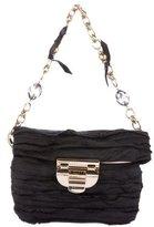 Nina Ricci Embellished Pleated Evening Bag
