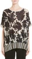 Women's Victor Alfaro Silk & Cashmere Floral Mesh Top