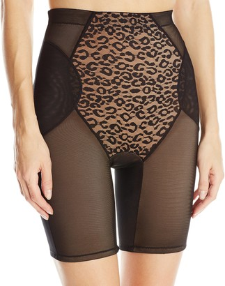 Ahh By Rhonda Shear Women's Leopard Lace Long Line