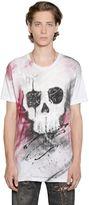 Faith Connexion Skull Graffiti Cotton Jersey T-Shirt