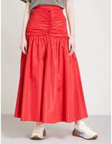 Stella McCartney Delilah high-rise woven maxi skirt
