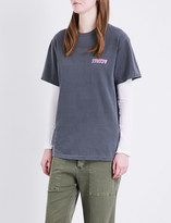 Stussy Global-print cotton-jersey T-shirt