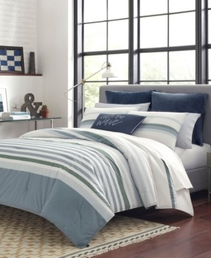 Nautica Lansier Grey Comforter Sham Set, Full/Queen Bedding