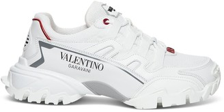 Valentino Climbers Sneakers In Fabric And Leather