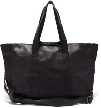 Ann Demeulemeester Grained-leather Holdall Bag - Mens - Black