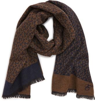 Canali Paisley Wool & Silk Scarf
