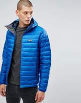 Patagonia Down Sweater Hooded Jacket In Blue