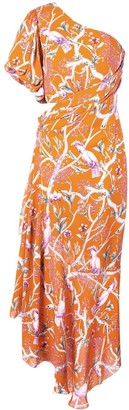 Johanna Ortiz One Shoulder Printed Dress