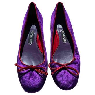 Tom Ford Purple Velvet Ballet flats