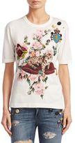 Dolce & Gabbana Floral Cotton Tee