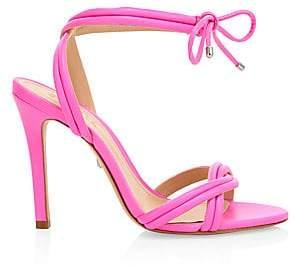 6bb79f6d28 Schutz Women's Yvi Ankle-Tie Leather Sandals