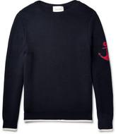 Gucci Anchor-appliquéd Cotton Sweater