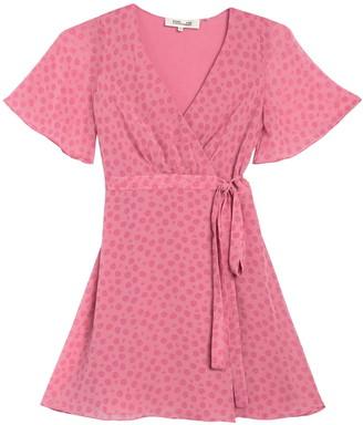 Diane von Furstenberg Kathy Rose Dot Wrap Dress