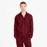 J.Crew Heathered cotton flannel pajama set in buffalo check