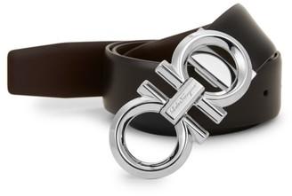 Salvatore Ferragamo Reversible & Adjustable Gancini Belt