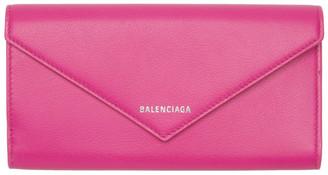 Balenciaga Pink Thin Money Papier Wallet