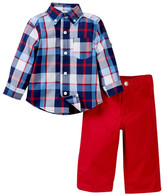 Little Me Multi Plaid Woven Pant Set (Baby Boys)