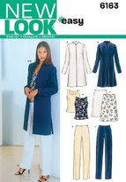 New Look A 8-10-12-14-16-18 Sewing Pattern 6163 Misses Separates