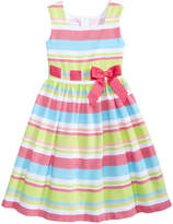 Bonnie Jean Striped Linen Dress, Big Girls