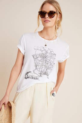 Burning Torch Los Angeles Map Graphic Tee