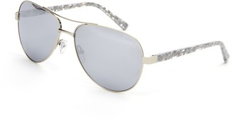 Ted Baker 57mm Metal Frame Aviator Sunglasses