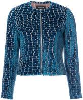 Yigal Azrouel crocodile effect Burnout jacket - women - Polyamide/Spandex/Elastane/Viscose - 2