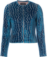Yigal Azrouel crocodile effect Burnout jacket - women - Polyamide/Spandex/Elastane/Viscose - 4