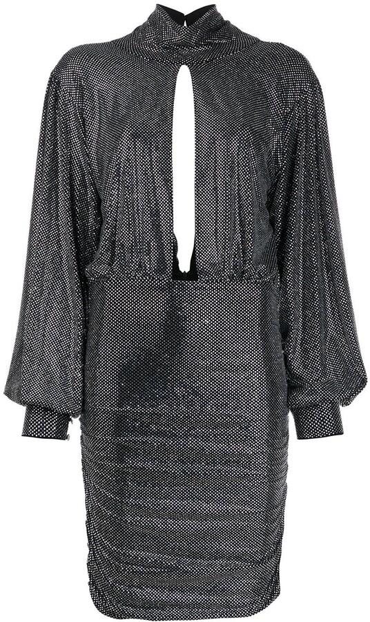 Philipp Plein Encrusted Rhinestone Jersey Dress