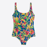J.Crew Factory Bow-back one-piece swimsuit in Tarrington floral print