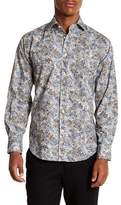 Thomas Dean Floral Long Sleeve Sport Fit Shirt