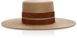 Janessa Leone Phoenix Wide-Brim Wool Hat