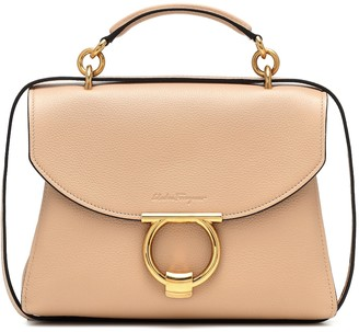 Salvatore Ferragamo Gancini Medium leather shoulder bag