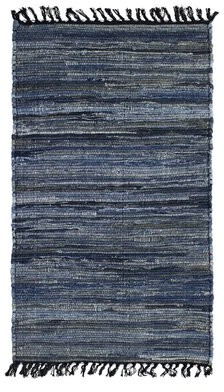 French Connection Elisha Hand-Knotted Cotton Blue Area Rug Rug Size: Rectangle 4' x 6'