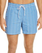 Lacoste Allover Logo Print Swim Trunks