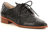 Louise et Cie Annacis Laser Cut Leather Lace-Up Dress Oxfords