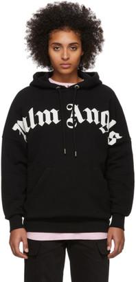 Palm Angels Black Logo Hoodie