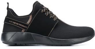 Emporio Armani Ea7 textured slip-on sneakers