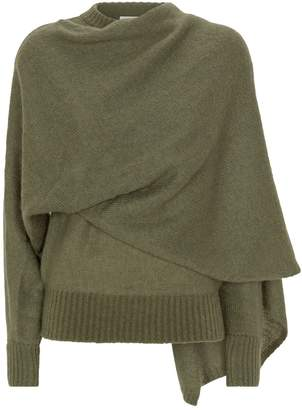REJINA PYO Colette Draped Mohair-Blend Sweater