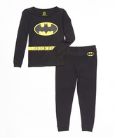 Intimo Black & Yellow Batman Pajama Set - Boys
