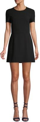 French Connection Sundae Whisper Short-Sleeve A-Line Dress