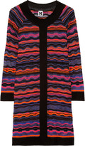 M Missoni Striped crochet-knit dress