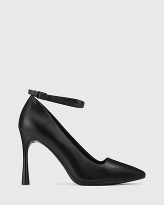 Wittner - Women's Black Stilettos - Halba Leather Ankle Strap Stiletto Pumps - Size One Size, 36 at The Iconic