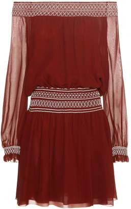 Tory Burch Silk off-the-shoulder minidress
